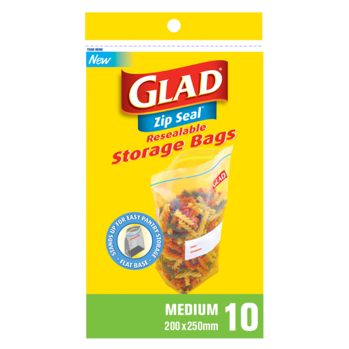 Glad® Zip Seal® Medium 10 – 200mm x 250mm