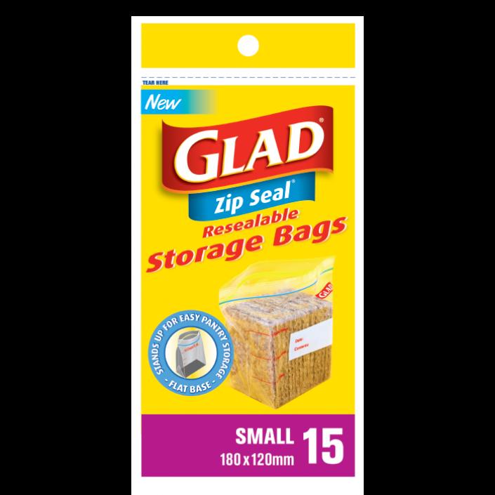 Glad Zip Seal® Small 15 – 180mm x 120mm