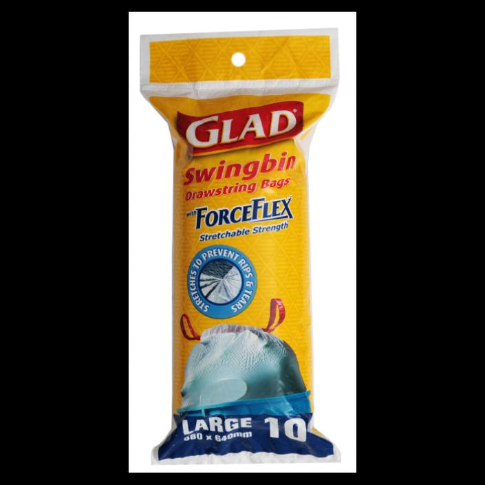 Glad® ForceFlex™ Stretchable Strength® range with Glad® Swingbin Large – 580mm x 640mm