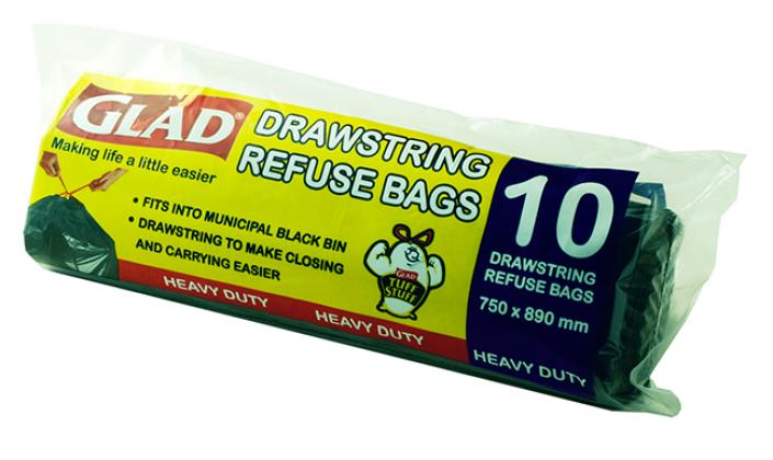 Glad® Tidy Bin range Drawstring Refuse Bags – 750mm x 890mm