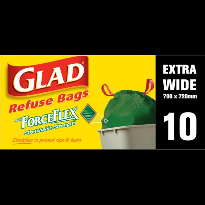 Glad® ForceFlex™ Stretchable Strength® range with Glad® Swingbin Extra Wide – 700mm x 720mm