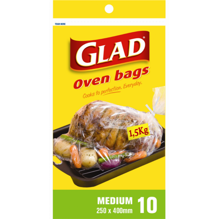 Glad® Oven Roasting Bags Medium – 250mm x 400mm