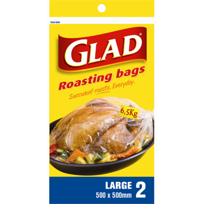 Glad® Oven Roasting Bags Large – 500mm x 500mm