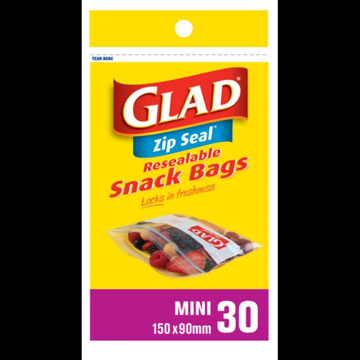 Glad® Zip Seal® Mini 30 – 150mm x 90mm
